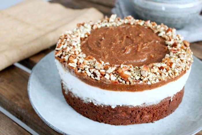 Sticky Chocolate & Caramel Pie