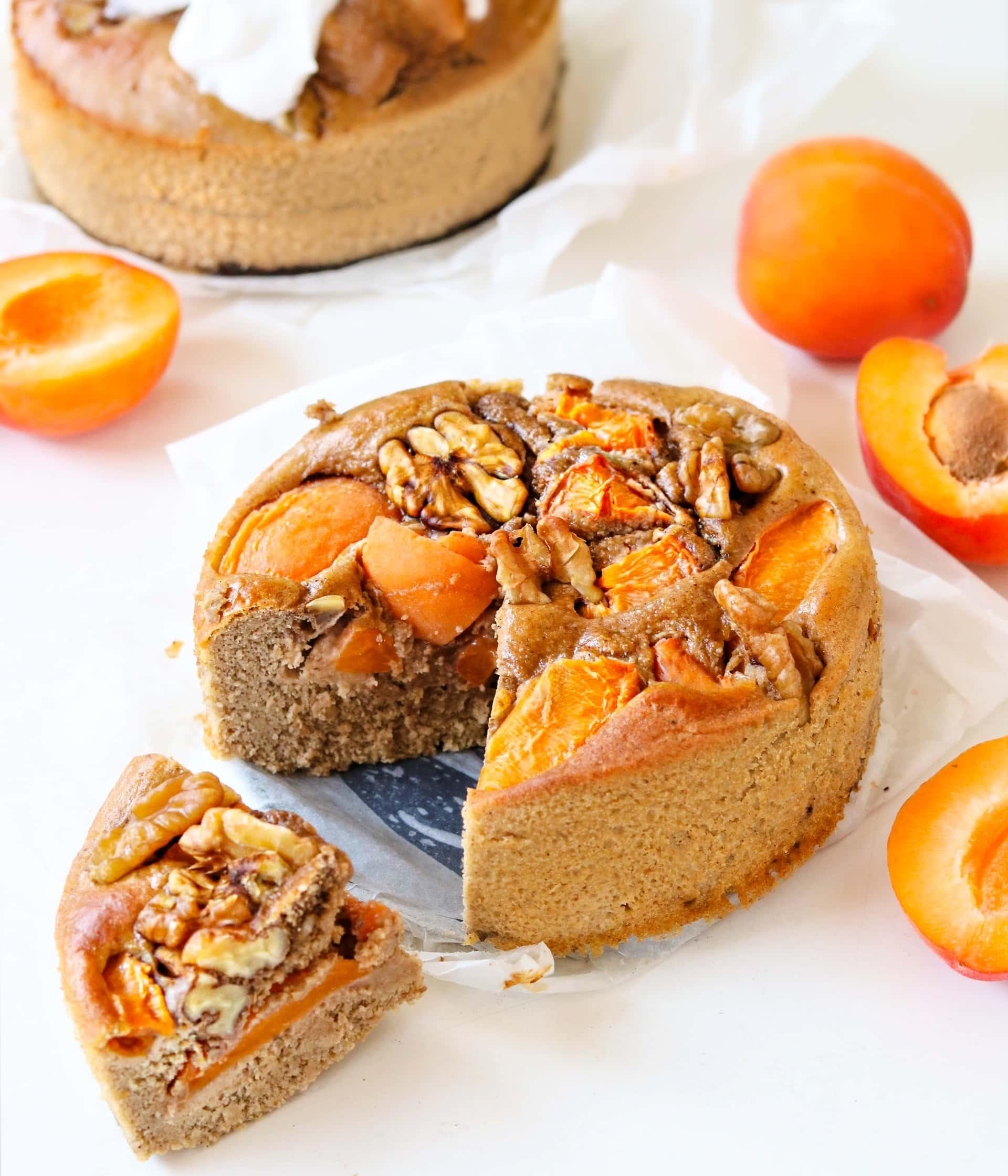 Ontbijttaartje met abrikozen en walnoten
