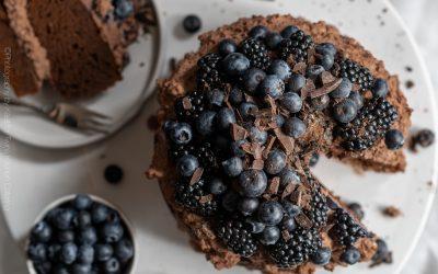 Glutenvrije chocoladetaart met chocoroom