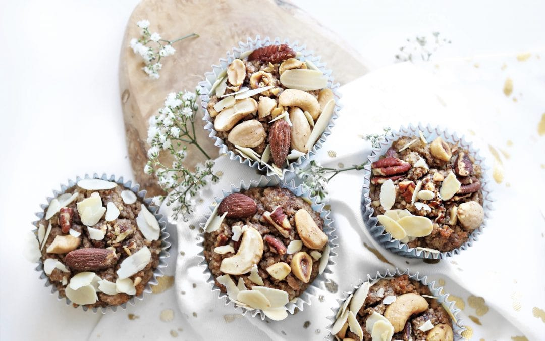 Glutenvrije ontbijtmuffins met noten