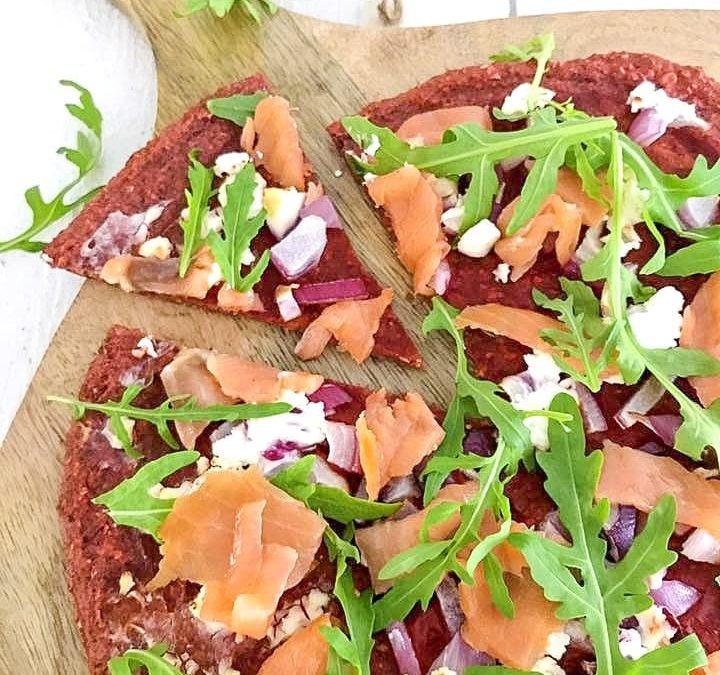Glutenvrije rode bieten pizza