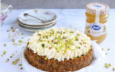 Feestelijke glutenvrije Carot Cake met gemberjam