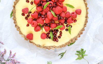 Glutenvrije custard taart met rood fruit