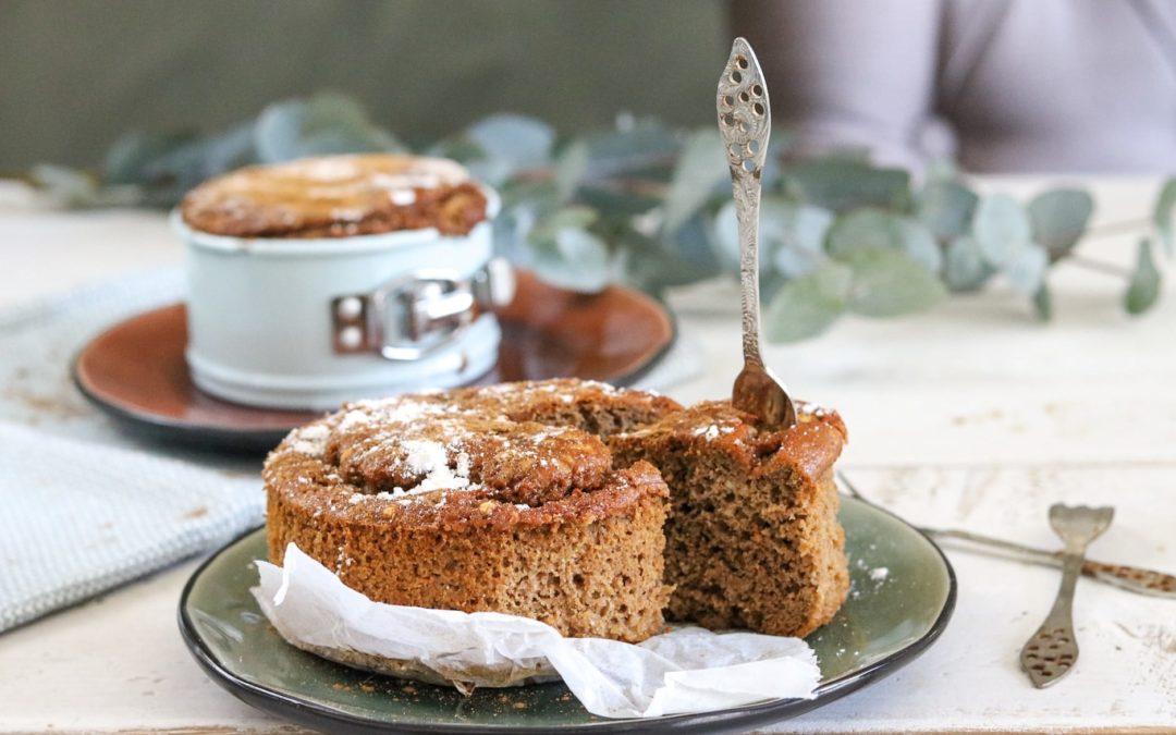 glutenvrij en koolhydraatarm kruidcake ontbijttaartje