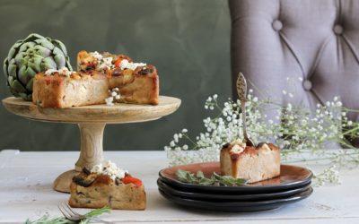 Glutenvrije hartige broodjes met paprika en feta