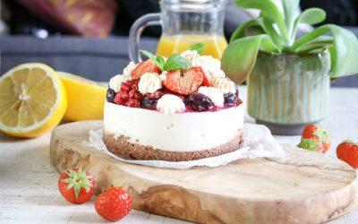 Glutenvrij havermout en yoghurt ontbijttaartje!